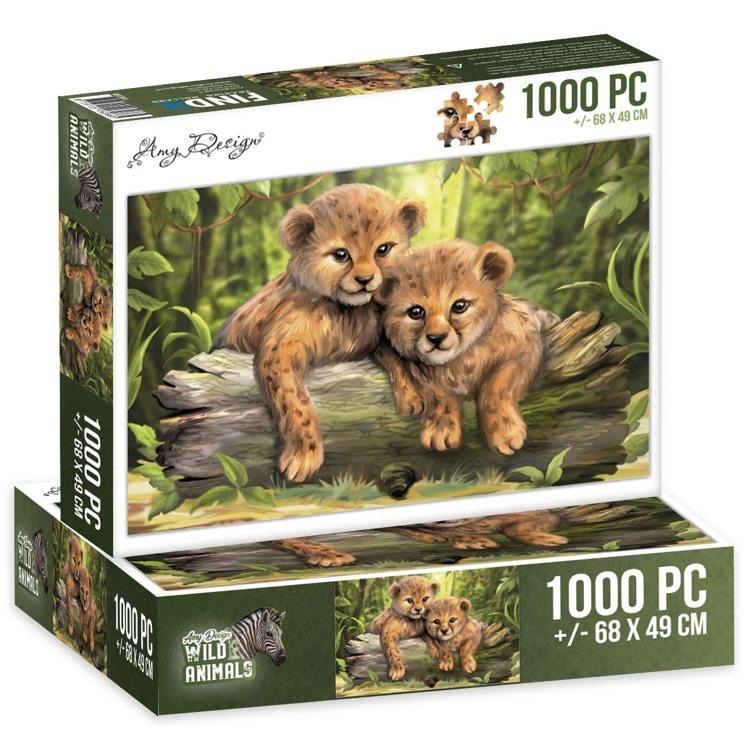 Puzzel 1000 pc - Amy Design - Wild Animals - Cubs