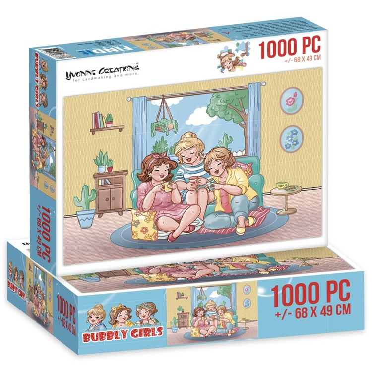 Puzzel 1000 pc - Yvonne Creations - Bubbly Girls Tea Time 00