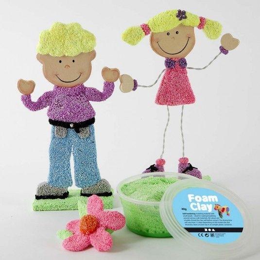 Jongen en meisje, h: 18 cm, poly hout, 1paar