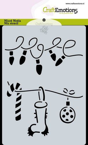 CraftEmotions Mask Stencil Christmas   Decorations