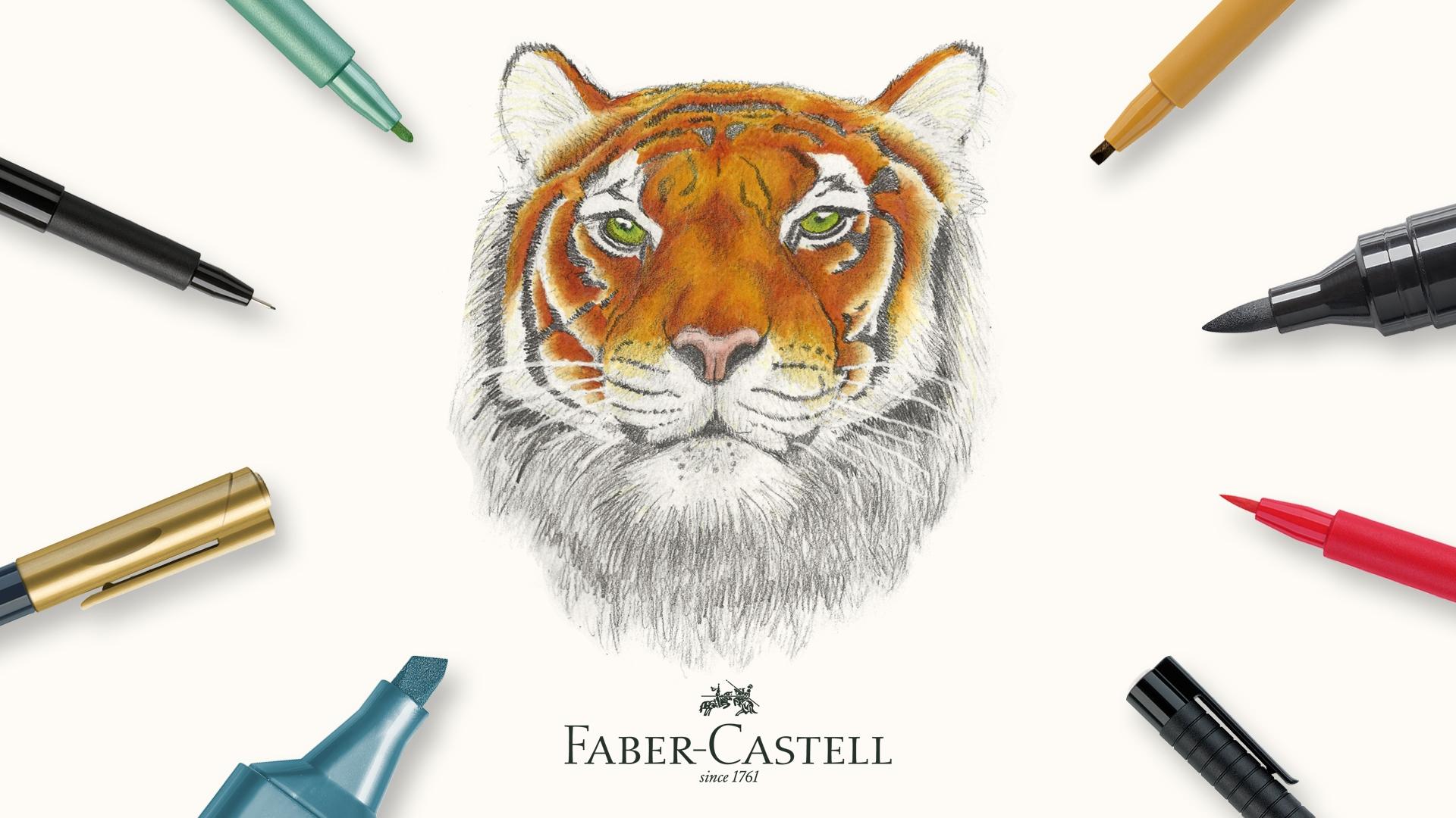 Demonstratie Faber Castell Pitt Pennen + marker