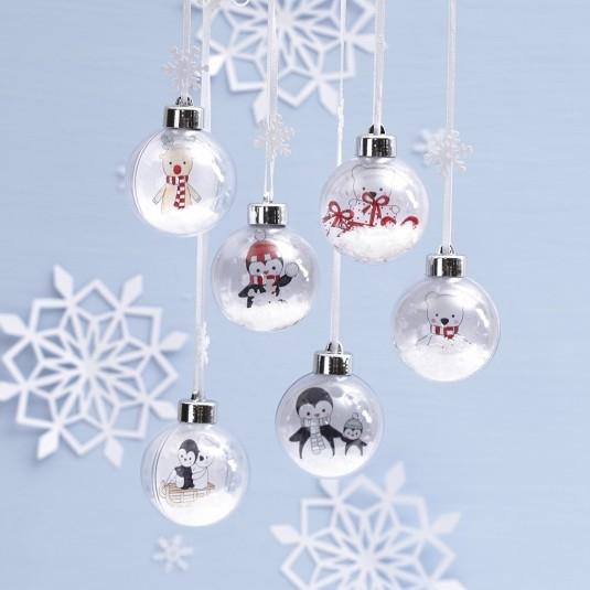 Een set om mooi kerstballen te maken