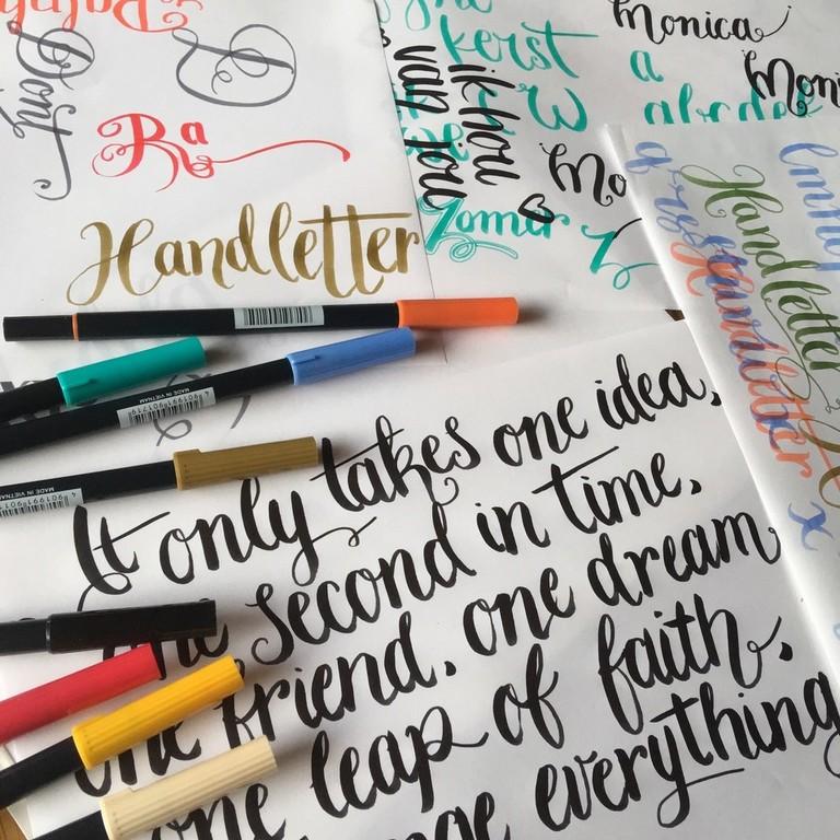 Handlettering | Deel 2 | Brushletteren en werken met kleur