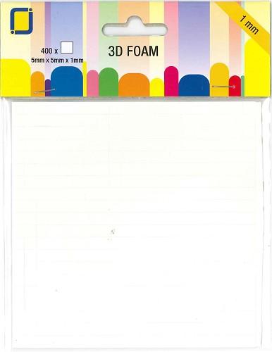 3D Foampads 5x5 x 1mm dikte