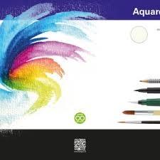 Aquarelpapier op blok