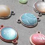 Cabochon - Transparante druppel embellishments