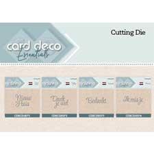 Card Deco Essentials Text Dies