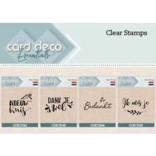 Card Deco Essentials Text Stamps