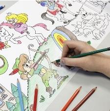 Nieuwe kleurboeken en tekenrollen