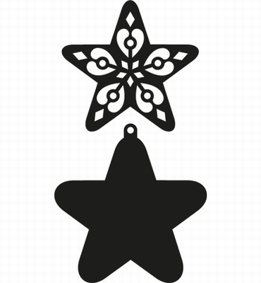 Filigree Star  per stuk