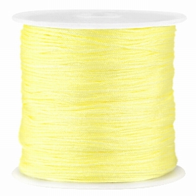 Geel Macramé satijndraad 0,8mm Tender Yellow
