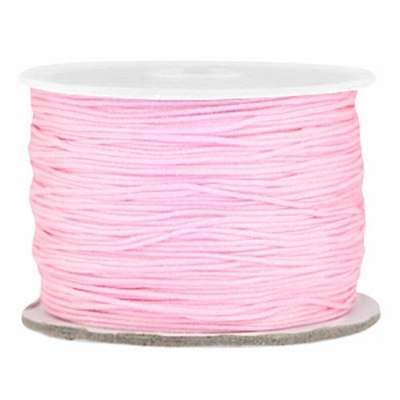 Roze Macramédraad 0,5 mm light pink  per meter