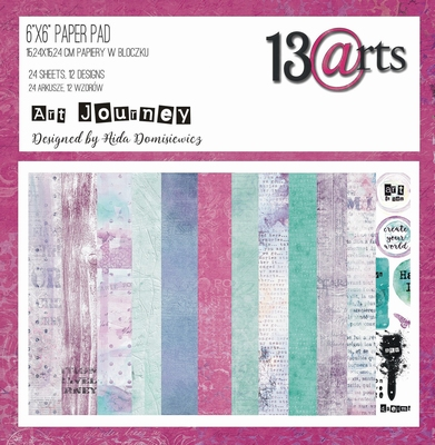 "13@rts | Art Journey Paper Pad 6""x6"" 