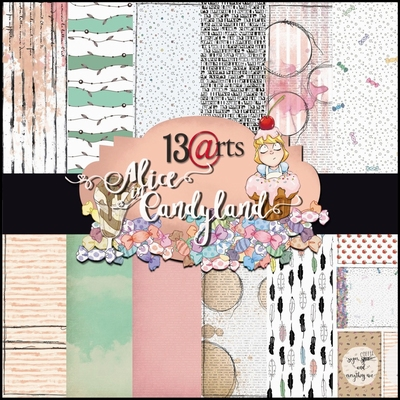 """Alice in Candyland Paperpad 6""""x6""""  Per stuk"""