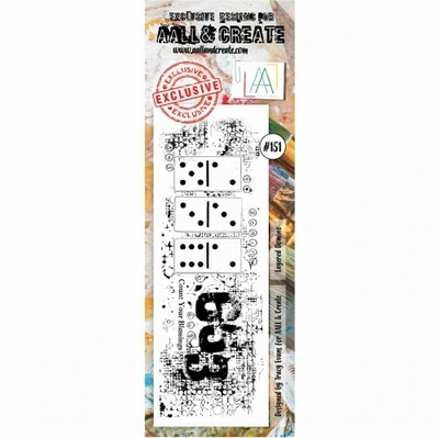AALL & Create border stempel nr 151 - Layered Domino