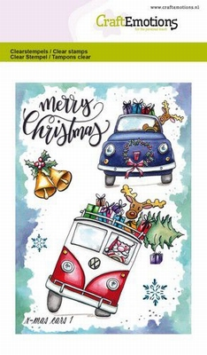CraftEmotions clearstamps A6   X-mass cars 1