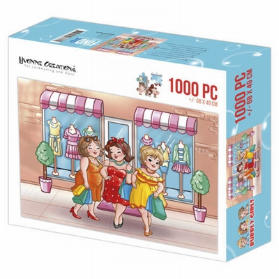 Puzzel 1000 pc - Yvonne Creations - Bubbly Girls Shopping 00