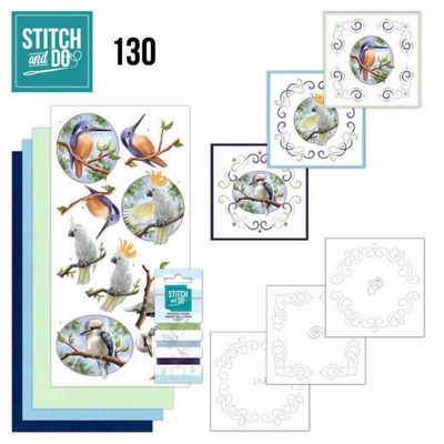 Stitch and Do 132 | Precious Marieke | Delicate Flowers+Bird