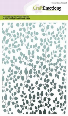 CraftEmotions clearstamps A6 | Eucalyptus Background