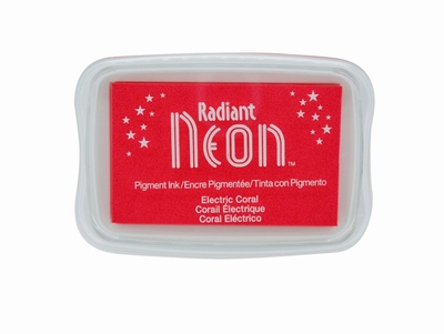 Radiant Neon Electric Coral Ink Pad