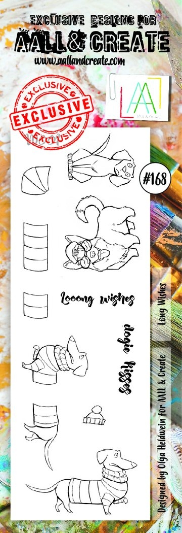 AALL & Create Border stamp #168 - Lony Wishes