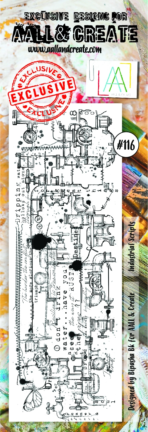 AALL & Create border stempel nr 116 - Industrial Strips