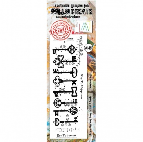 AALL & Create border stempel nr 148 - Key to Hapiness