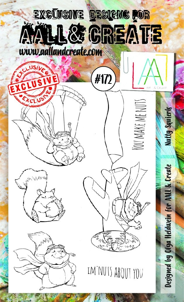 AALL & Create Stamp Set #172 Nutty Squirrels