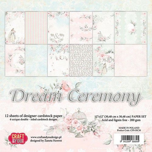 Craft & You | Paperpad 12 x 12 inch - Dream Ceremony