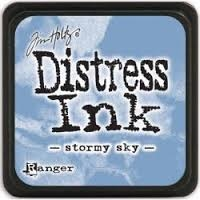 Distress Mini Ink Pad Stormy Sky