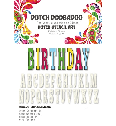 Dutch Doobadoo Stencil Art Alfabet 5