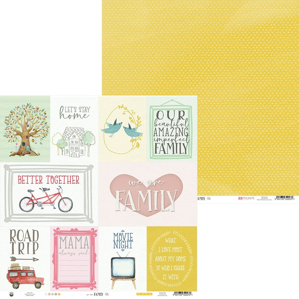 Piatek Paperpad We Are Family 6 x 6 inch