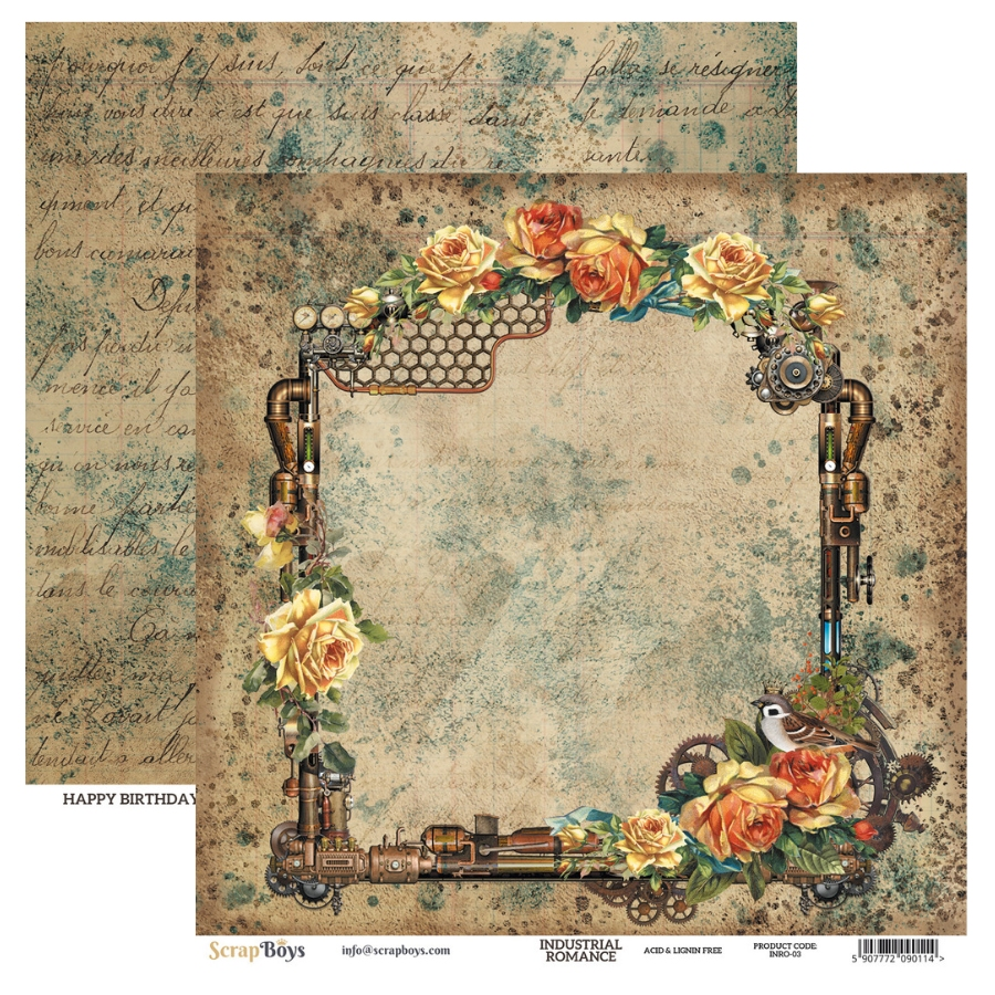 "Scrapboys | Industrial Romance Paperpad 12""x12"""