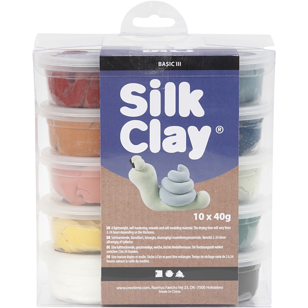Silk Clay | Assortiment Poederkleuren | Set 10 x 40 gram