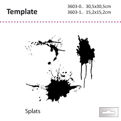 "Template 6x6"" Splats (verfspatten)"