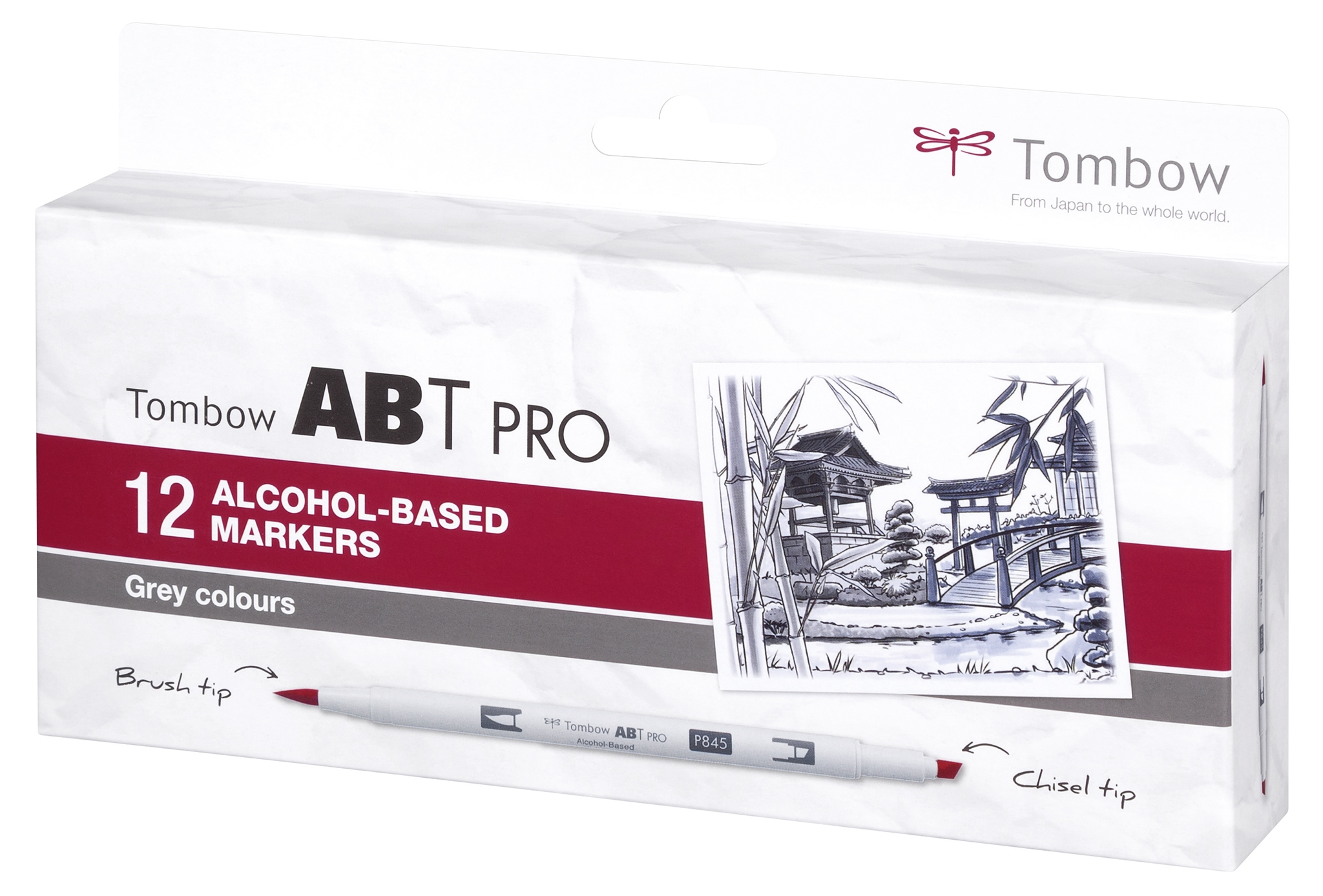 Tombow  ABT PRO 12 pcs. set Grey Colors