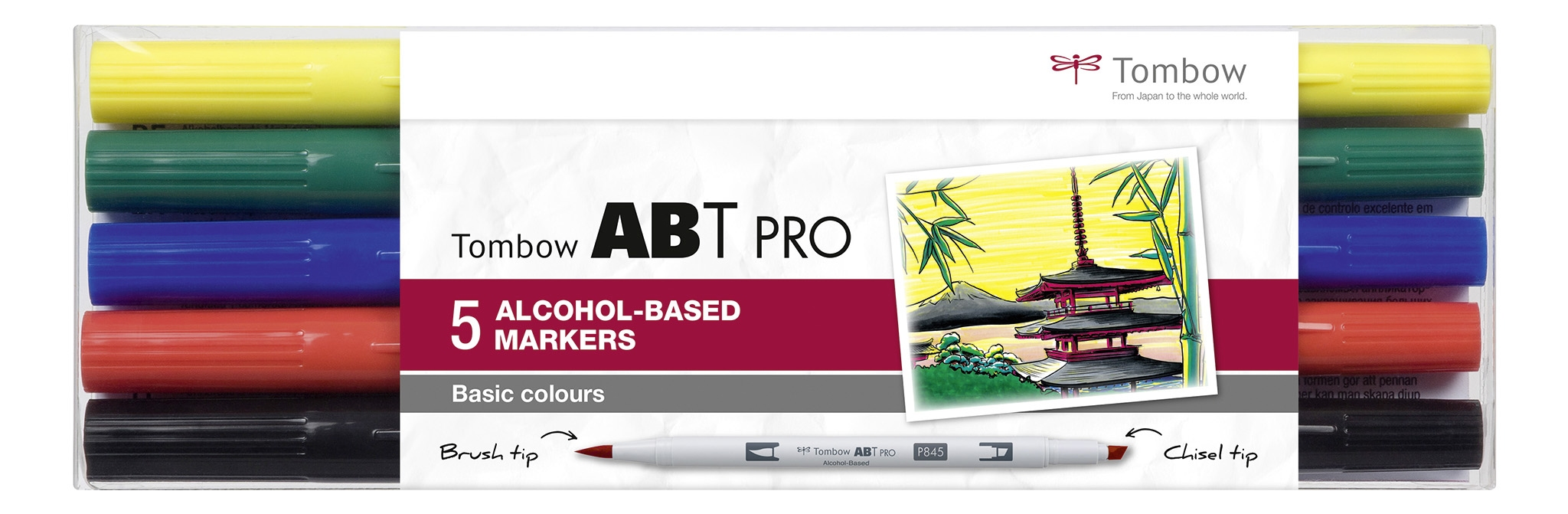 Tombow  ABT PRO 5 pcs. set Basic Colors