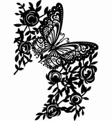 Designs, 297 x 210mm - Butterfly Per stuk