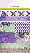 CraftEmotions Paper stack Purple Holiday 32 vel A5 per stuk