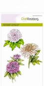CraftEmotions clearstamps A6 - Chrysanten tak per stuk