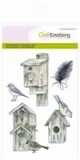 CraftEmotions clearstamps A6 - Vogelhuisjes per stuk