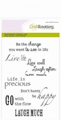 CraftEmotions clearstamps A6 - spirituele teksten (UK)