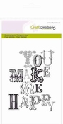 CraftEmotions stempel A6 | you make me happy