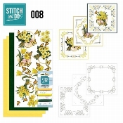 Stitch and Do 8 Gele bloemen