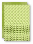 Doublesided background sheet A4 green hearts (per vel)