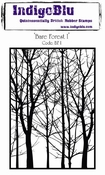 IndigoBlu stempel Bare Forest A6 Rubber Stamp