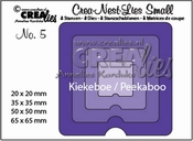 Crealies Crea-nest-dies small no. 5 Kiekeboe vierkant CNLS05