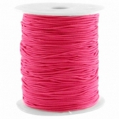 Gekleurd elastiek 1.0mm Raspberry pink