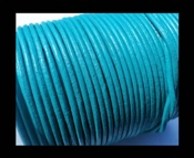 DQ Leer rond 3mm Turquoise