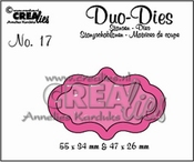 Crealies Duo Die no. 17 Duo Labels 4 per stuk